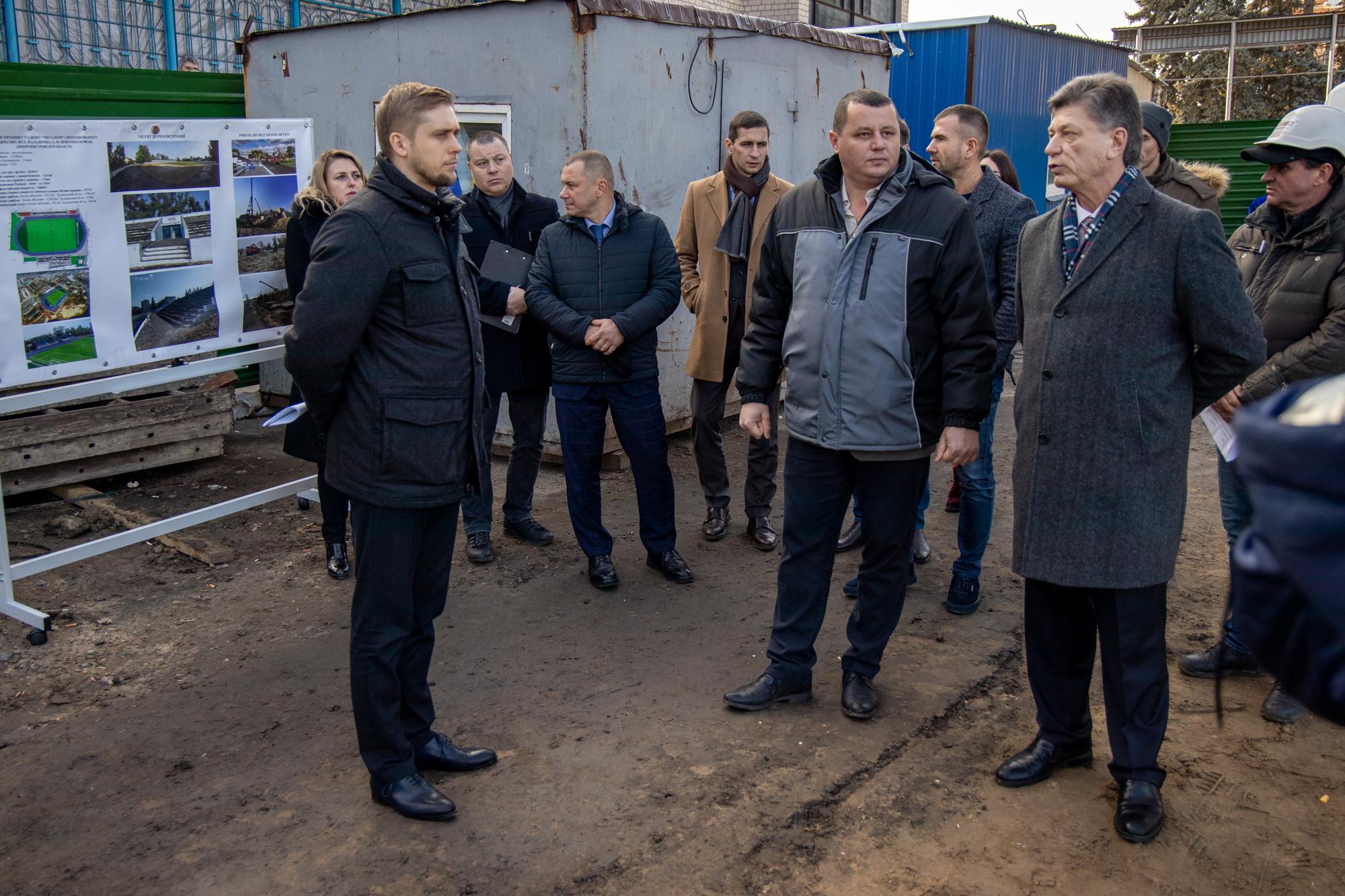 У Новомосковську реконструюють стадіон «Металург»