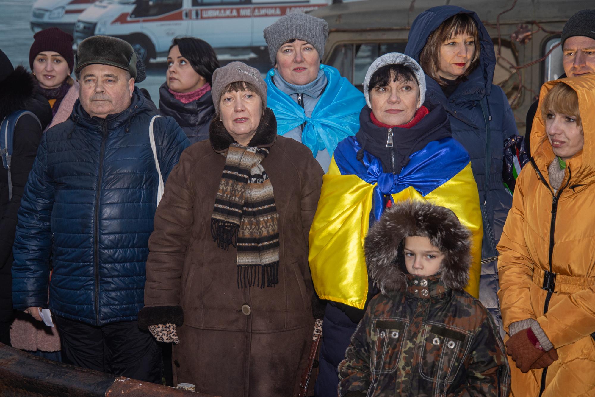 Після урочистої частини відбувся показ фільму про оборону Донецького летовища