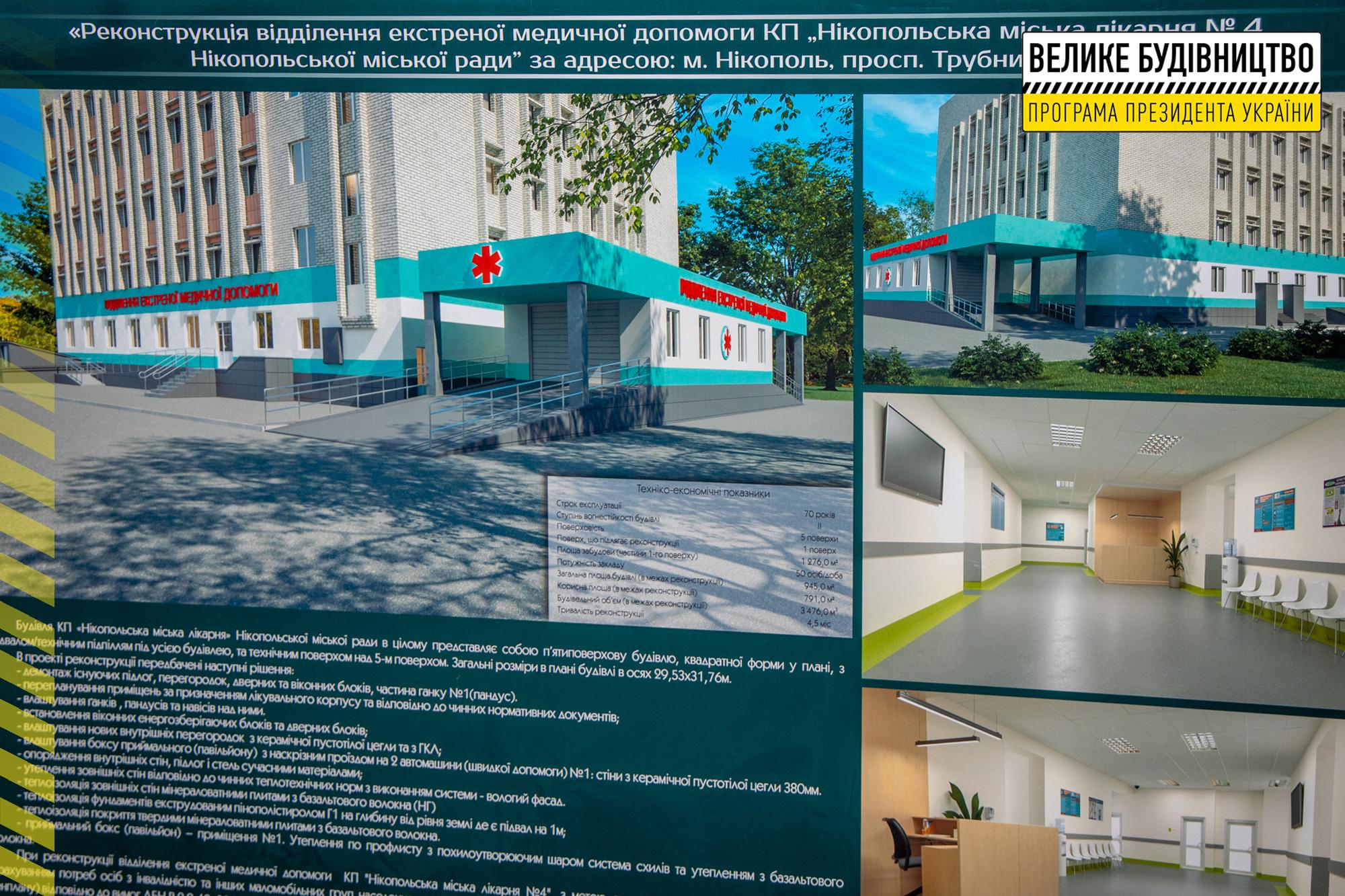 В оновленому приймальному відділенні лікуватимуть пацієнтів з Нікополя, сусідніх міст та районів
