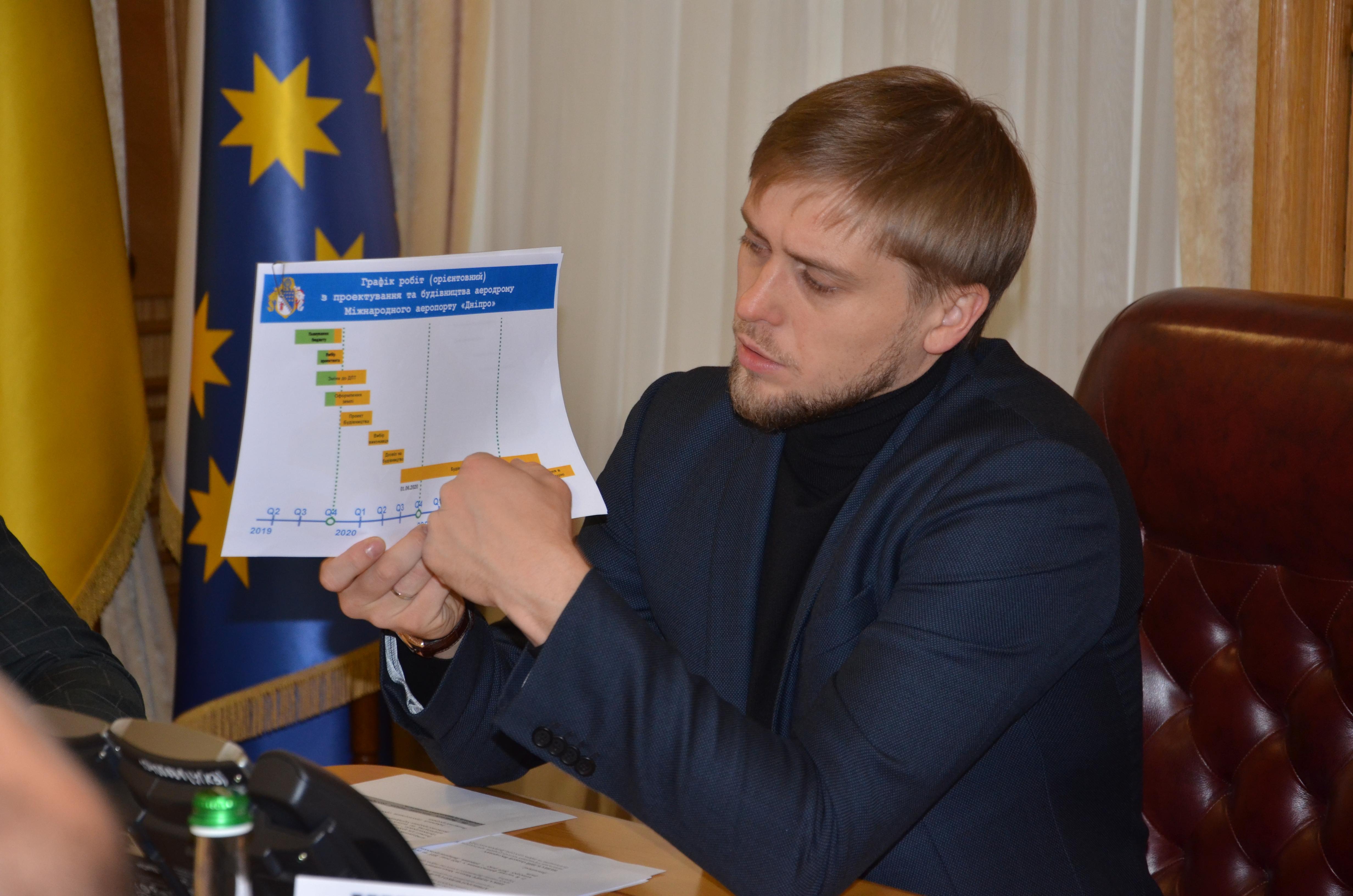 Олександр Бондаренко: «Маємо швидко узгодити всі технічні моменти, аби зведення терміналу та злітно-посадкової смуги розпочалося в строк»