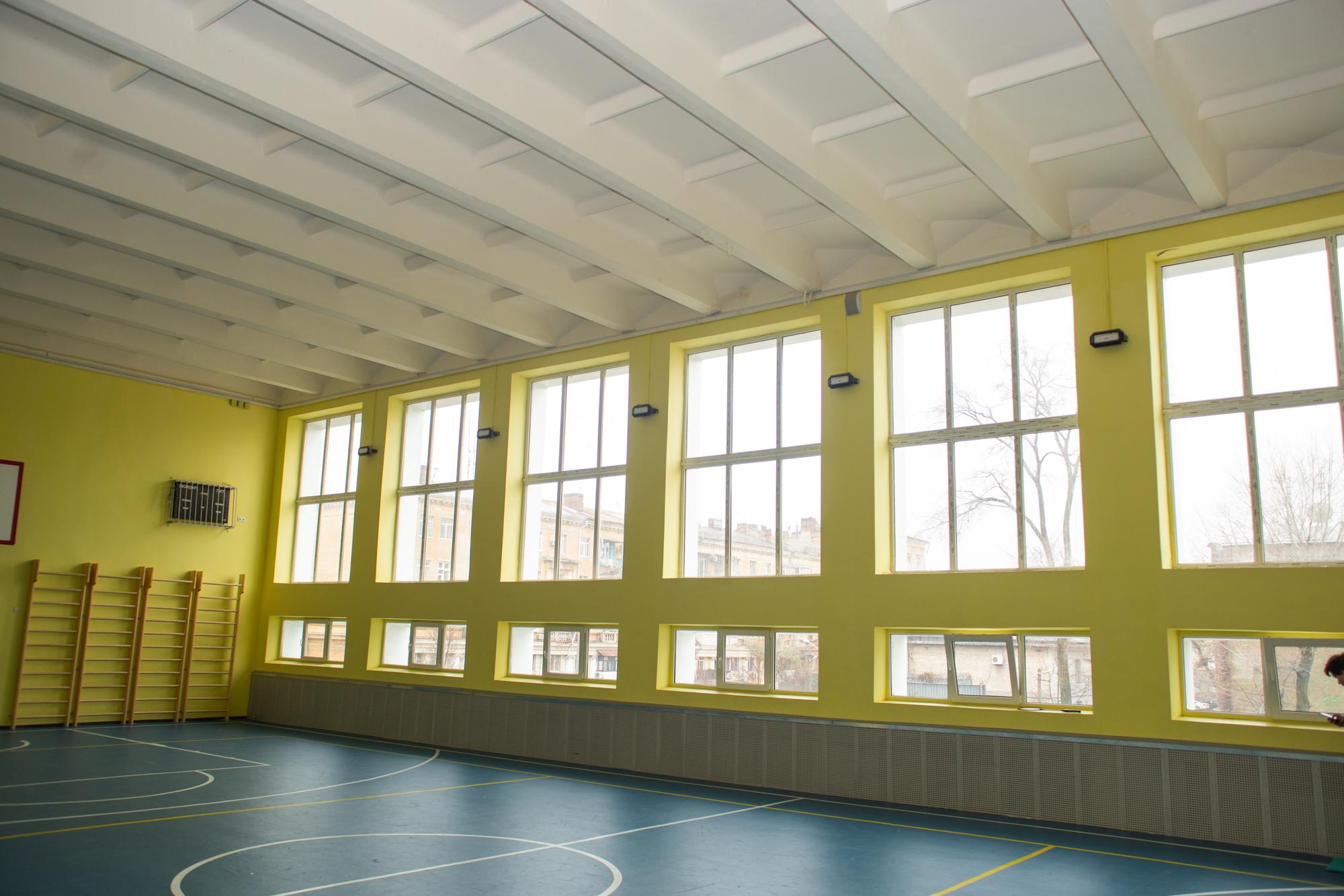 спортивну та актову зали