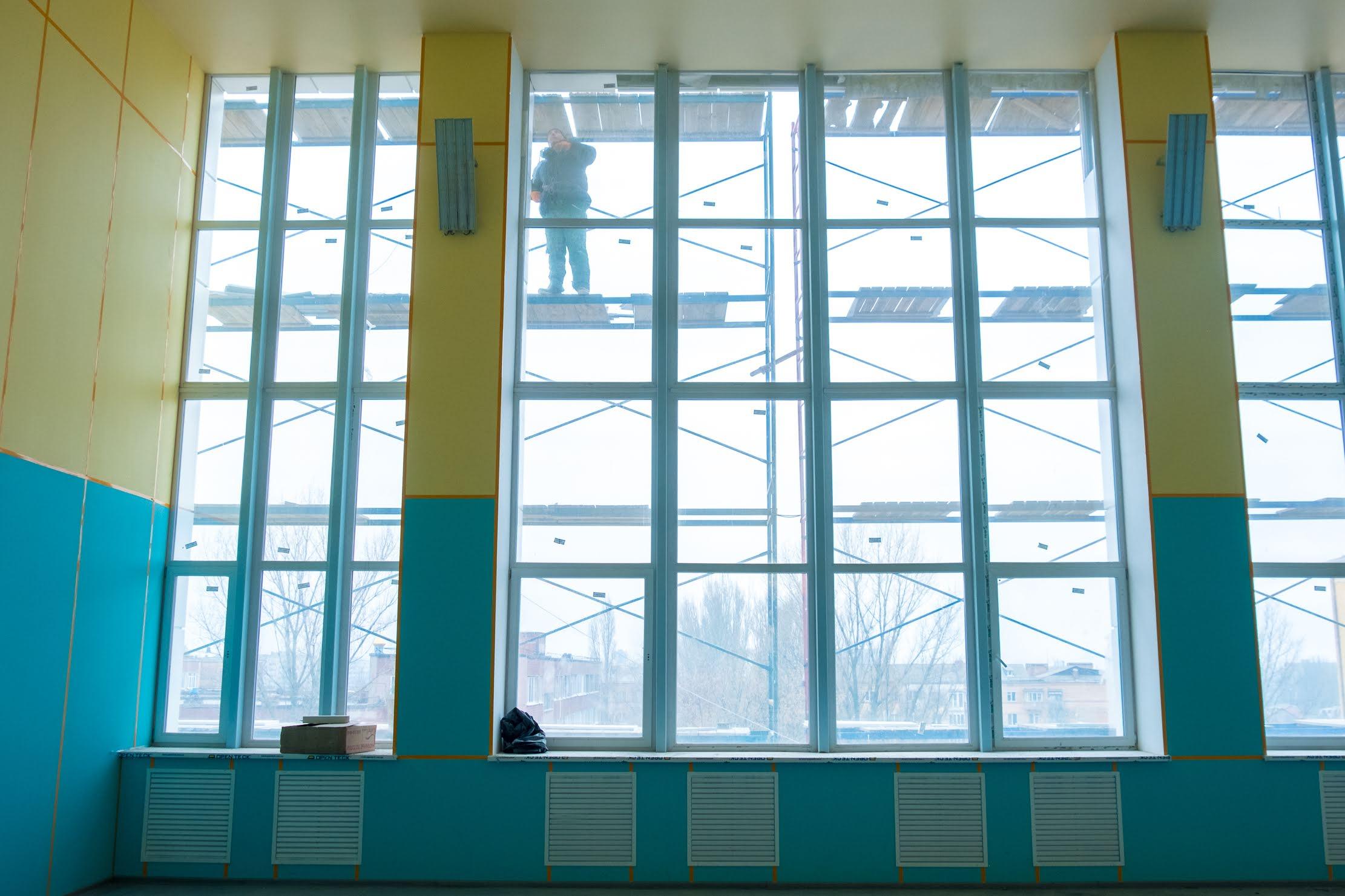 Відремонтували і спортивну залу на другому поверсі