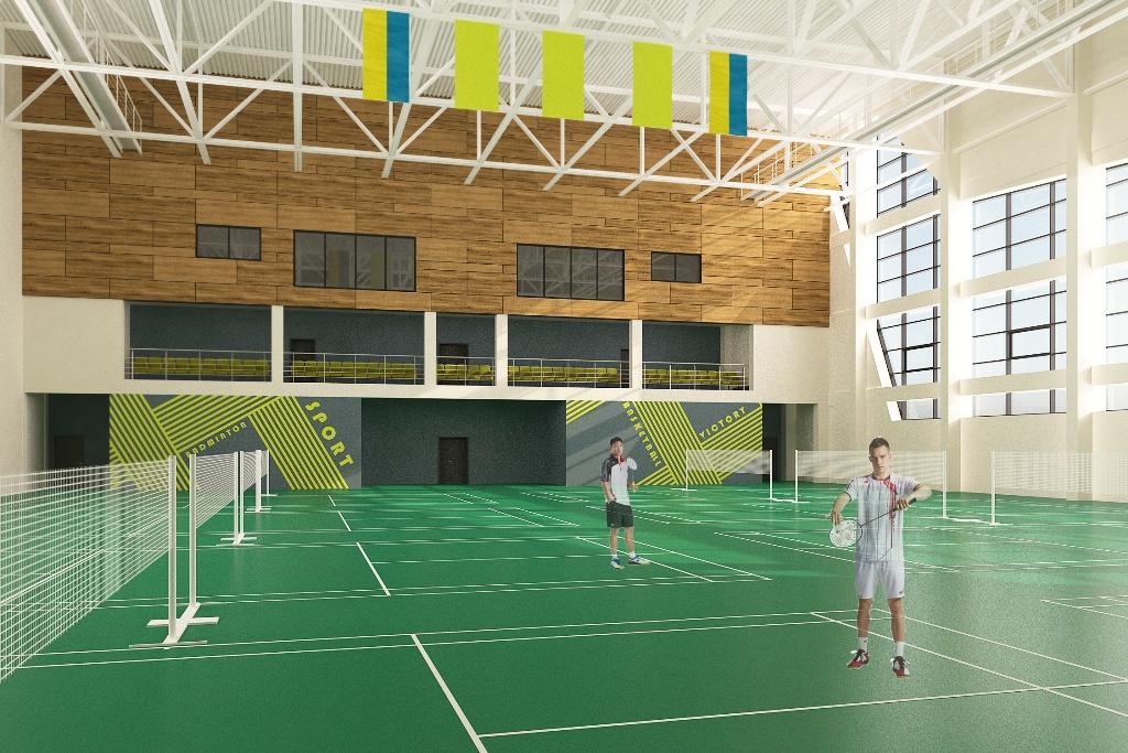 У сучасних залах проводитимуть міжнародні змагання і тренуватимуться спортсмени