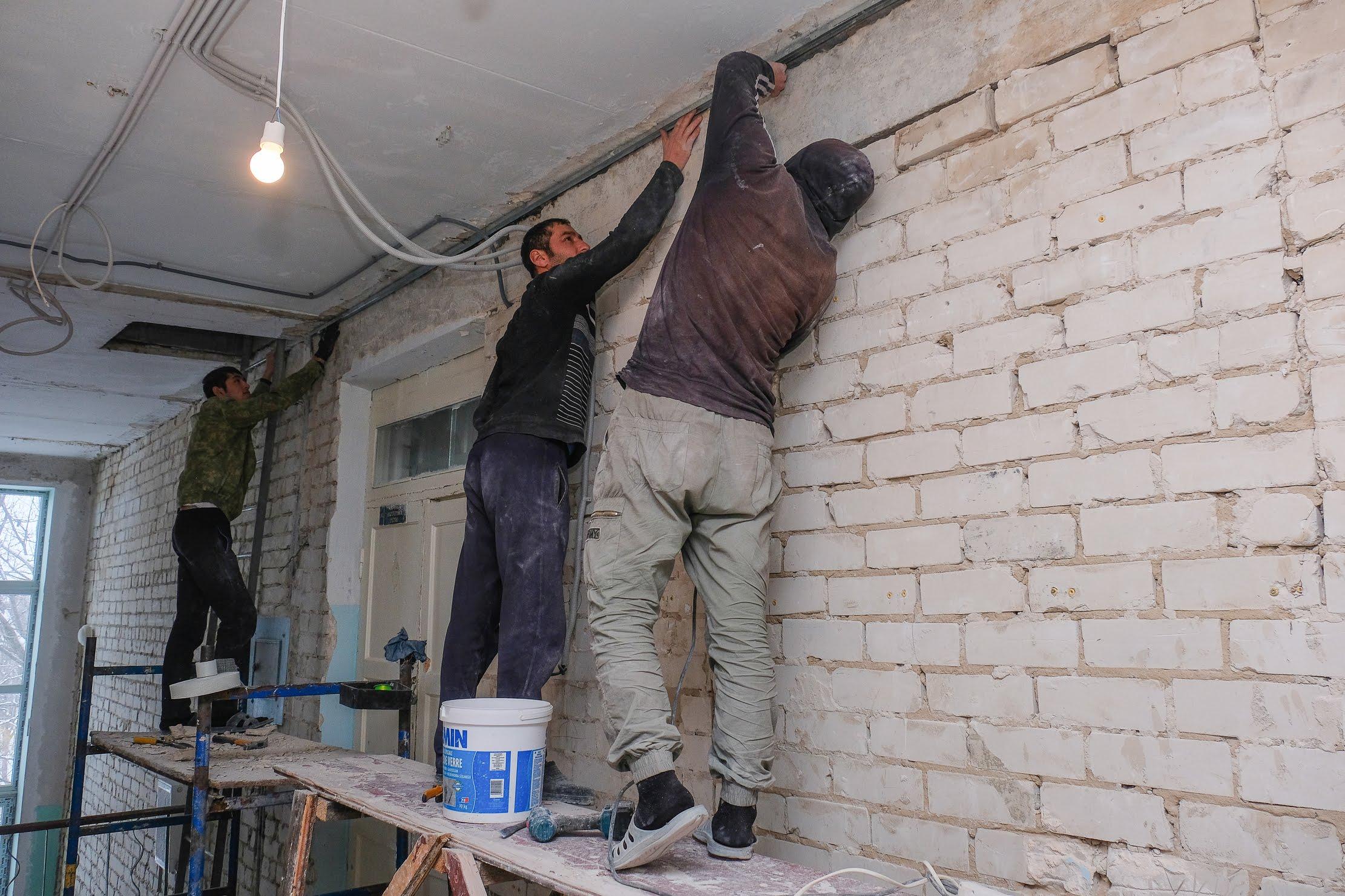 Нині триває ремонт на третьому поверсі
