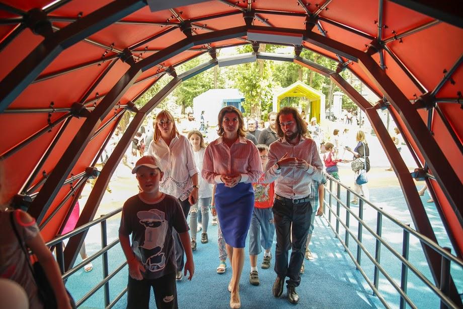 У середмісті Дніпра збудували сучасний інклюзивний парк.