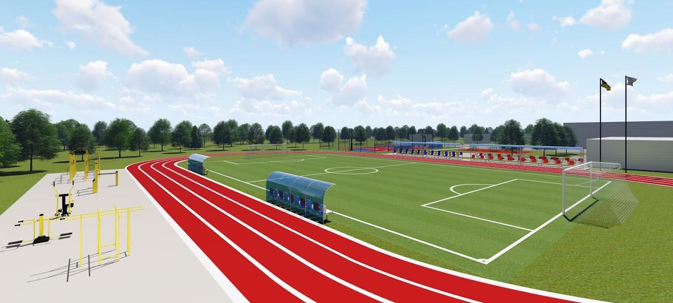 Там облаштують велике футбольне поле, легкоатлетичні доріжки