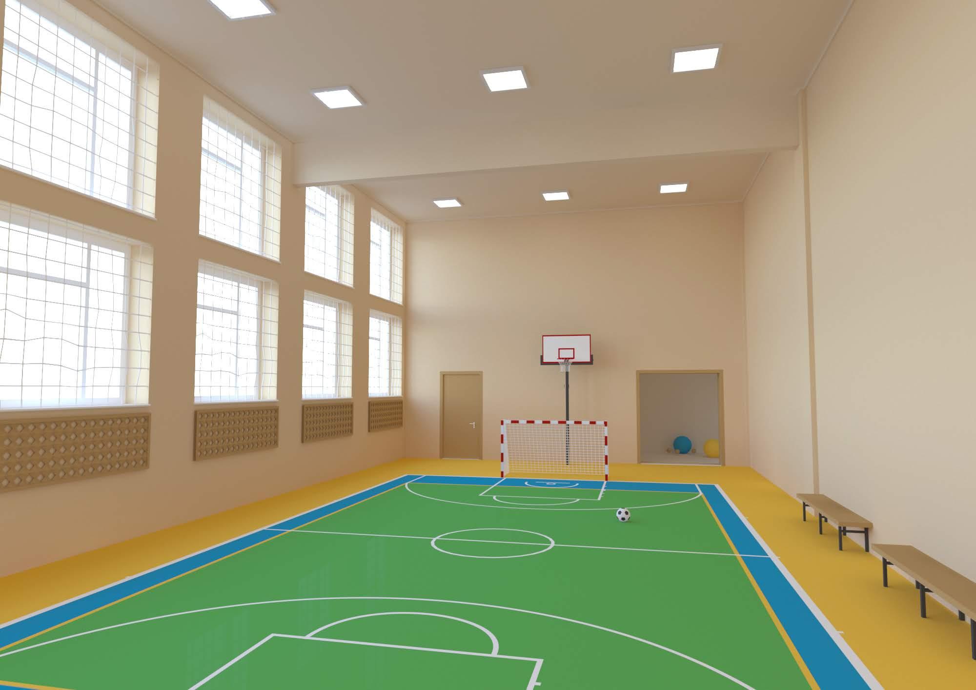 Осучаснюють спортивну залу