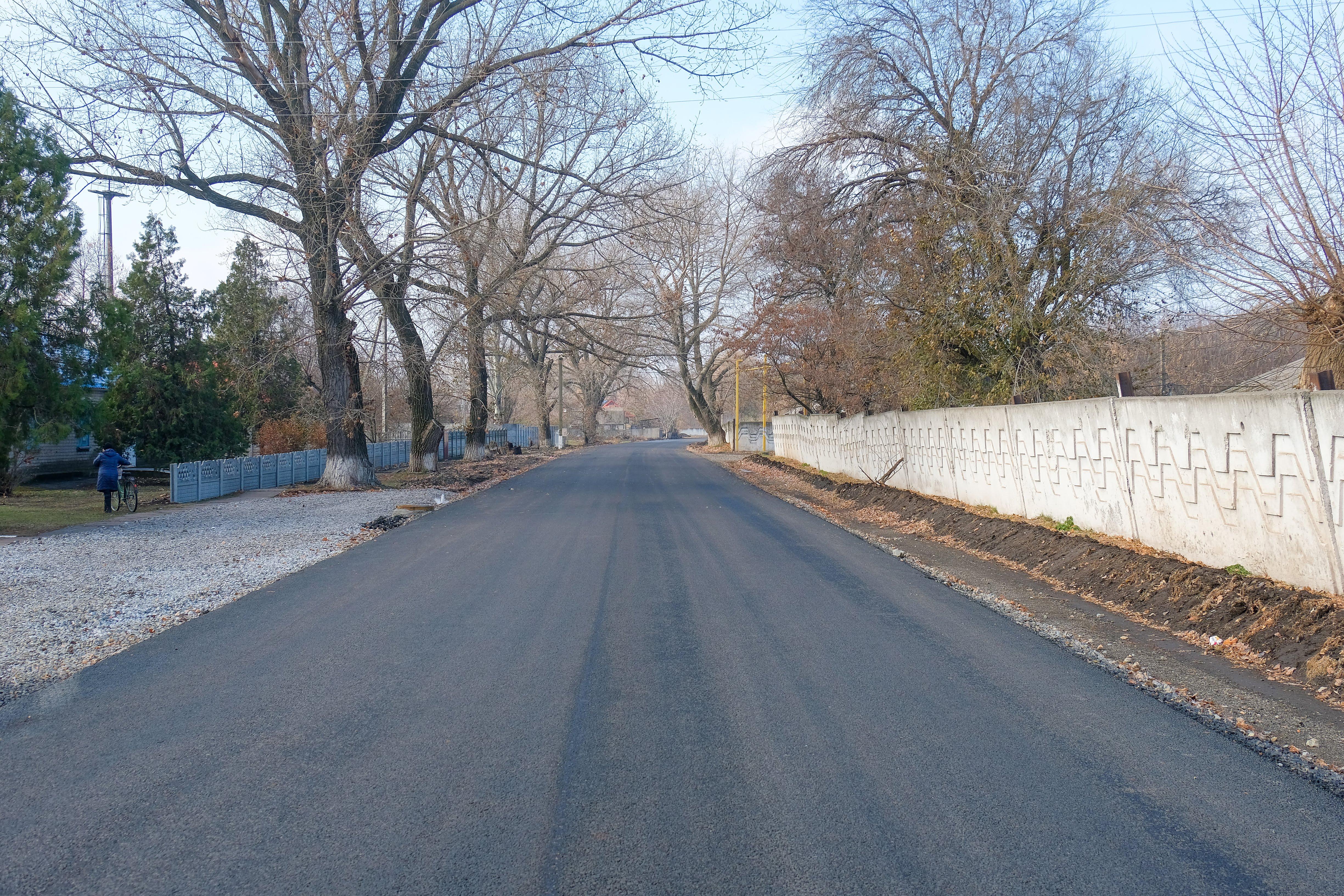 З новим покриттям дорога в Девладовому.